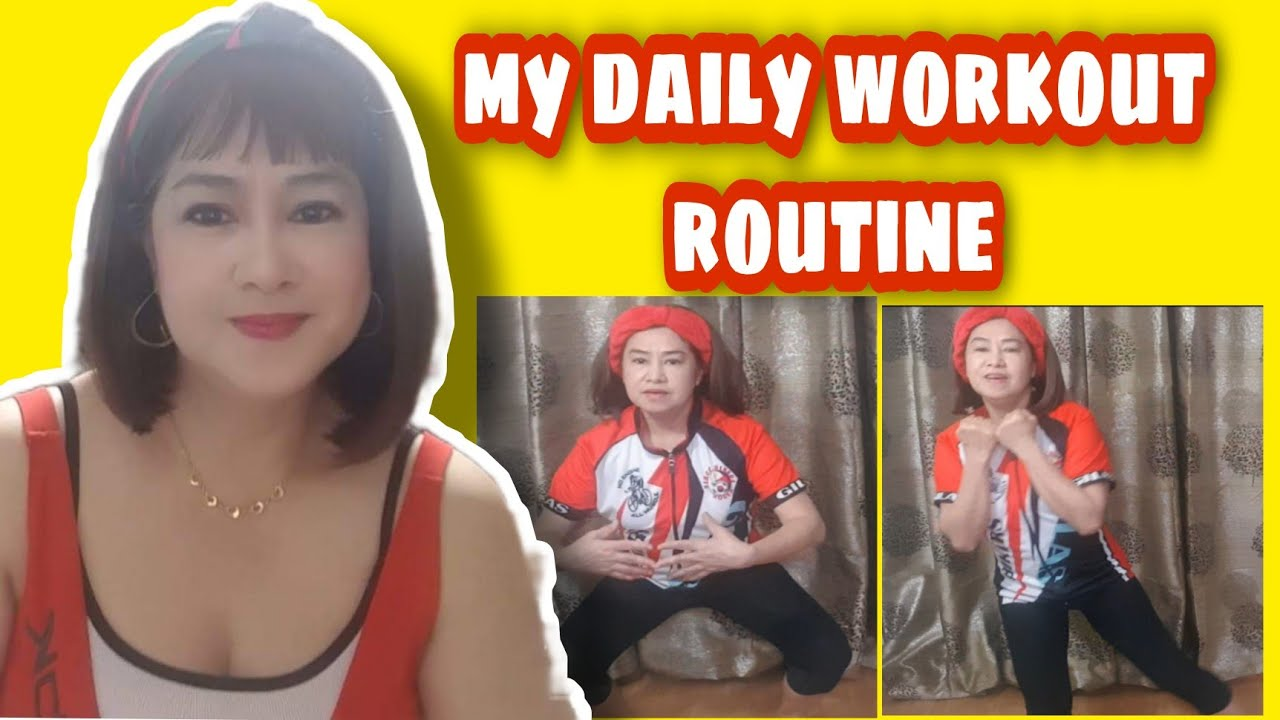 MY  DAILY WORKOUT ROUTINE TO STAY FIT AND HEALTHY #team PHD