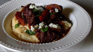Beef and Mushroom Ragout with Gorgonzola Polenta
