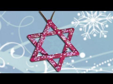 Una estrella decoraci n para el rbol de navidad - Trabajos manuales de navidad para ninos de primaria ...