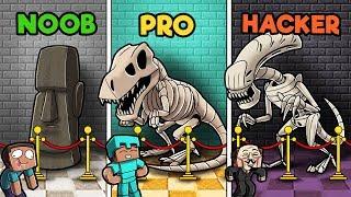 Minecraft - MUSEUM CHALLENGE! (NOOB vs PRO vs HACKER)