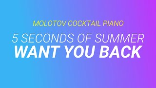 Want You Back - 5 Seconds of Summer cover by Molotov Cocktail Piano