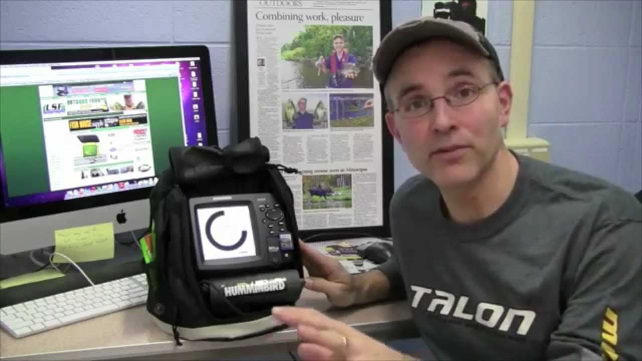 humminbird 597ci ice fishing setup tip - youtube, Fish Finder