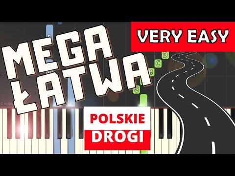 🎹 Polskie drogi (A. Kurylewicz) - Piano Tutorial (MEGA ŁATWA wersja) 🎹