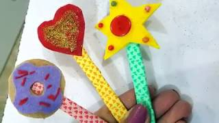 DIY Cute Felt Bookmark with using food disposable container/Ice Cream Stick Bookmarks