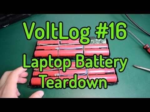 VoltLog #16 - Laptop Battery Teardown and Lithium Cell Recovery