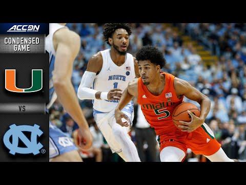 Miami Vs. North Carolina Condensed Game   ACC Basketball 2019-20