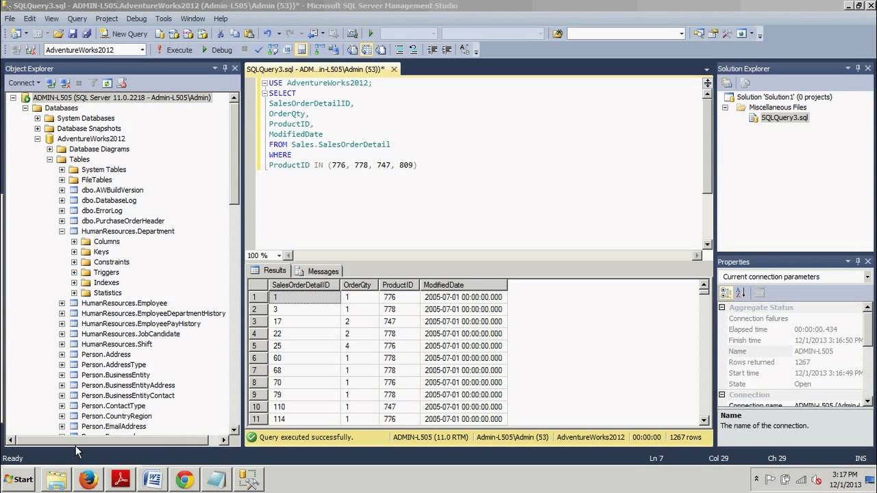 Sql server tutorial 28 using the where clause with multiple sql server tutorial 28 using the where clause with multiple conditions gamestrikefo Choice Image