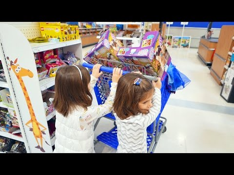 Bad Kate & Lilly - GIANT Toy Store Shopping, Stole Parents Car | Kate & Lilly in Real Life