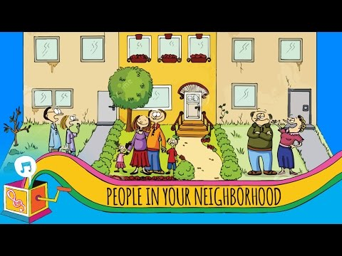 People in Your Neighborhood | Nursery Rhyme | Animated Karaoke