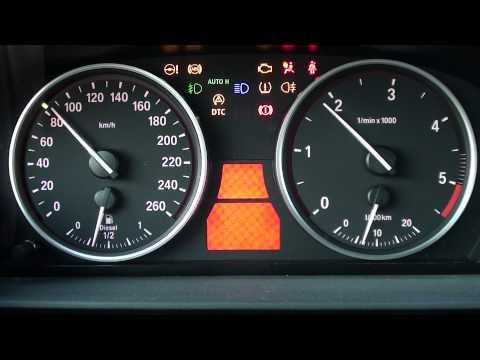 Test zegarów BMW E60, control test speedometer BMW E60