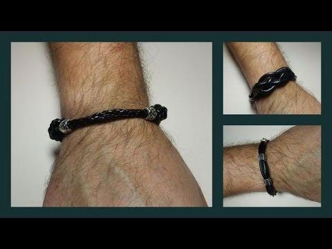 570440911a63 Tres modelos de pulseras de hombre - YouTube