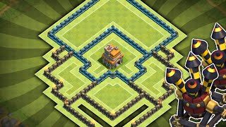 Clash of Clans - Townhall 7 (TH7) Clan War/Trophy Base! Anti-Air w/ Air Sweeper!