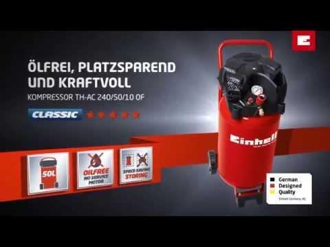 Turbo Einhell Kompressor TH-AC 240/50/10 OF - YouTube CB54