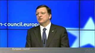 President Barroso at the European Council 7-8 February 2013