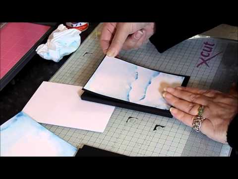 Spectrum Noir : Spectrum Aqua Gift Card Wallet Tutorial