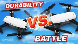 DJI Spark Durability Battle Test! Wall and Tree Ramming Test!