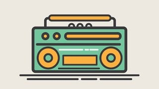 Tutorial Design Boombox illustration icon