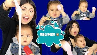 Making Slime with Baby Travis!