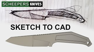 from sketch to cad how i make a knife in fusion 360