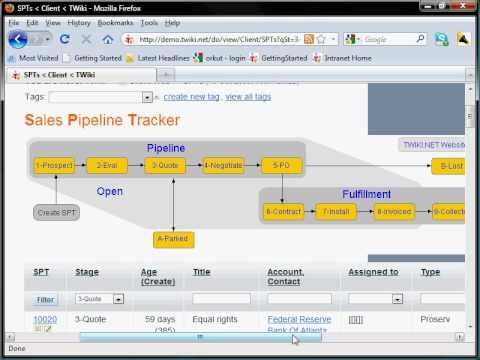 Sales Pipeline Tracker (CRM) - Twiki Application - YouTube