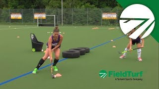the tire drill field hockey training with amy cohen