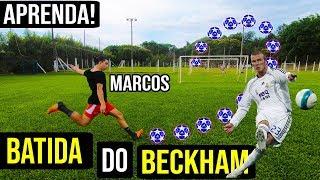 HOW TO DAVID BECKHAM FREE KICK!! How to Bend it like Beckham - Curve Free Kick Tutorial