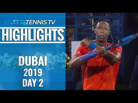 Nishikori's Winning Debut; Monfils Stuns Cilic   Dubai 2019 Day 2 Highlights