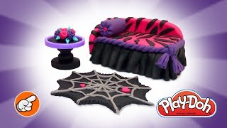 Play Doh Furniture. Monster High Dolls Furniture. DIY How to make Toys. Kids Learning Videos