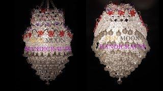 How to make Beaded Chandelier (Part-02) / Beaded Lampshade/DIY Beaded Jhar bati