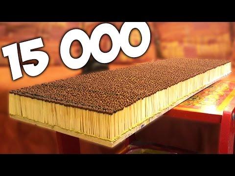 видео: ПОДЖОГ 15 000 СПИЧЕК