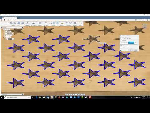 Building A US Flag Star Field In Fusion 360