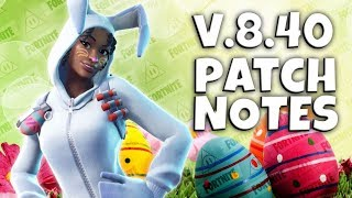 Version 8.40 Patch Notes - Fortnite Save The World