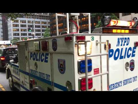 NYPD ESU MOBILE LIGHT GENERATOR TRUCK RESPONDING MODIFIED DURING 2017 U N   GENERAL ASSEMBLY