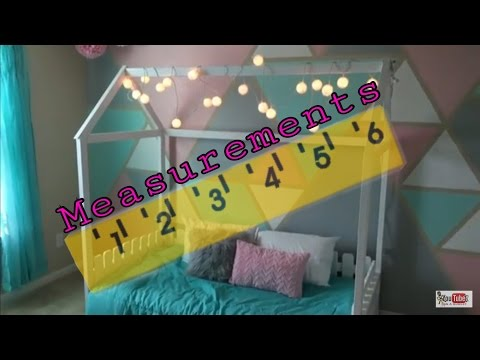 DiY: Twin size house bed Measurements (4K)