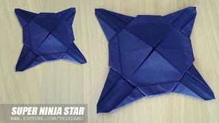 BEST ORIGAMI STAR Ever? - How to make a Paper Shuriken that FLIES like BOOMERANG | Super Ninja Star