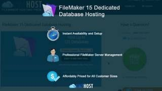 FileMaker Dedicated Database Hosting Getting Started