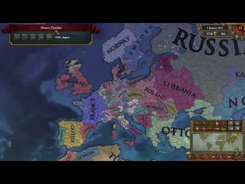 Eu4 Saxony to Germany Timelapse