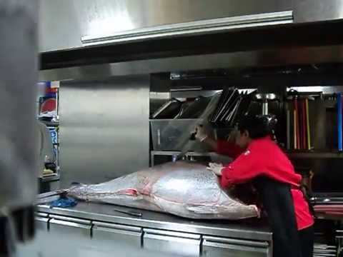 GIANT TUNA FILLETING @ OCCHIO KITCHEN BY CHEF ROYB.