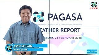 Public Weather Forecast Issued at 4:00 PM February 21, 2018