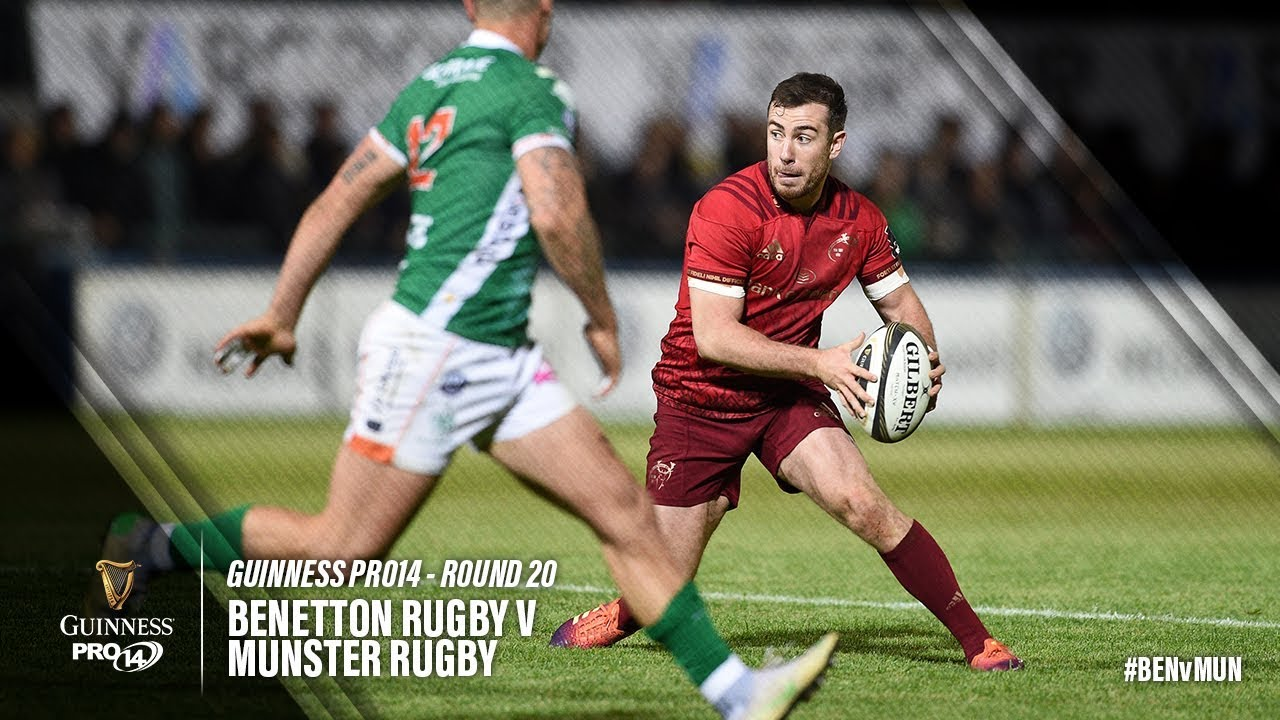 Calendario Benetton Rugby 2019.Benetton Rugby Munster 28 37 Video Pro14 Rugbymeet