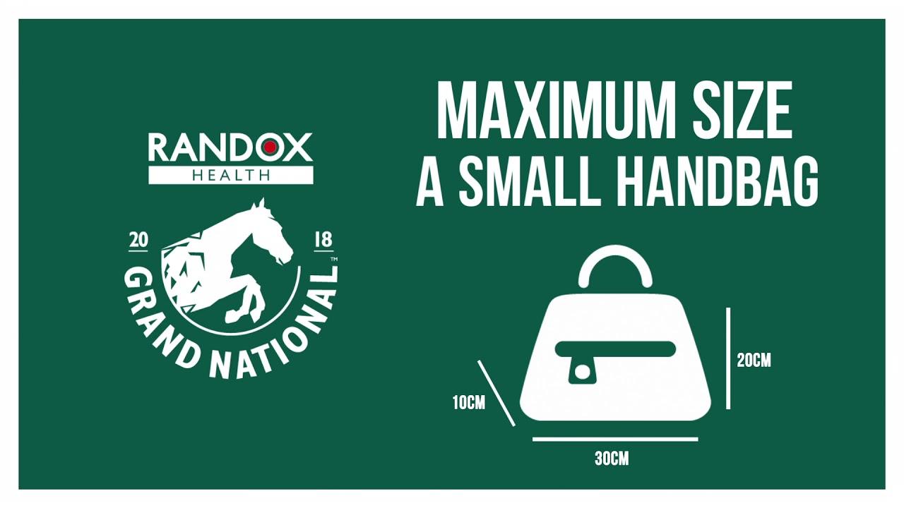 Randox Health Grand National 2018 Bag Size Policy Youtube