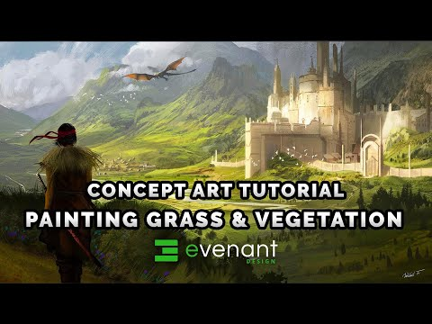 Painting Grass Tutorial - Digital Painting Basics - Vegetation - Concept Art