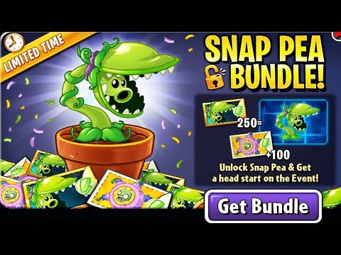 Plants Vs Zombies 2: Unlock Snap Pea & Get A Head Start On The Event!