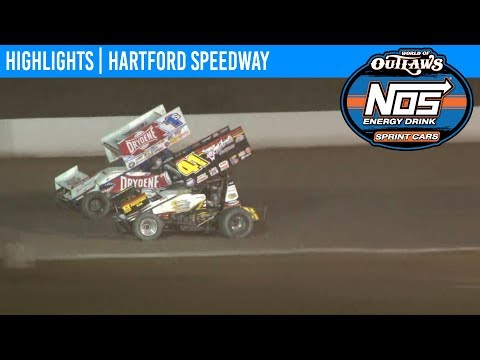 World of Outlaws NOS Energy Sprint Car Series Feature Event Highlights from Hartford Speedway in Hartford, Michigan on July 12th, 2019. To view the full race, ... - dirt track racing video image