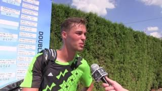 Michal Bíško po prohře v prvním kole na turnaji Futures v Pardubicích