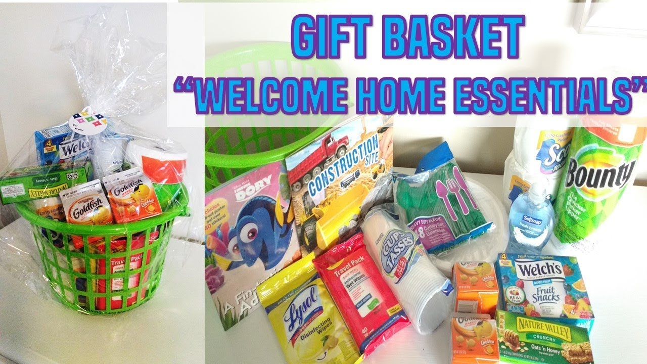 Gift Basket Welcome Home Essentials New Neighbors Or Friends Moving