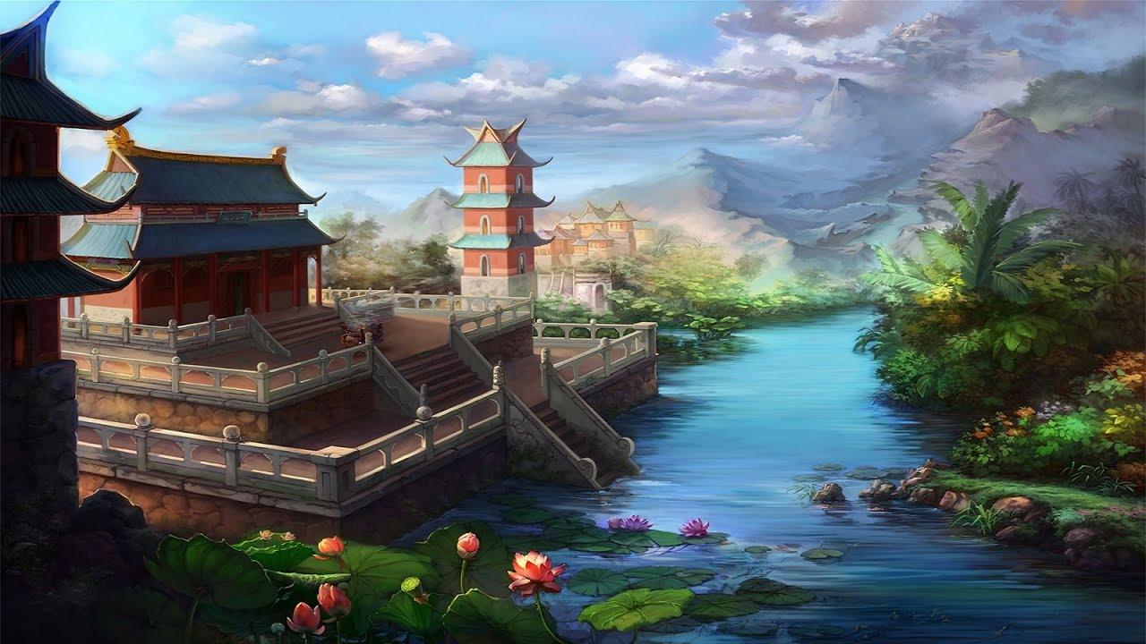 Chinese Instrumental Music Bamboo Village Youtube
