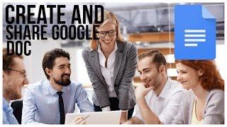 Bir Google Doc Oluşturmak ve Paylaşmak İçin nasıl Tam Öğretici