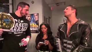 Wade Barrett, The Miz & Snooki Backstage Segment - WrestleMania 29 Pre Show