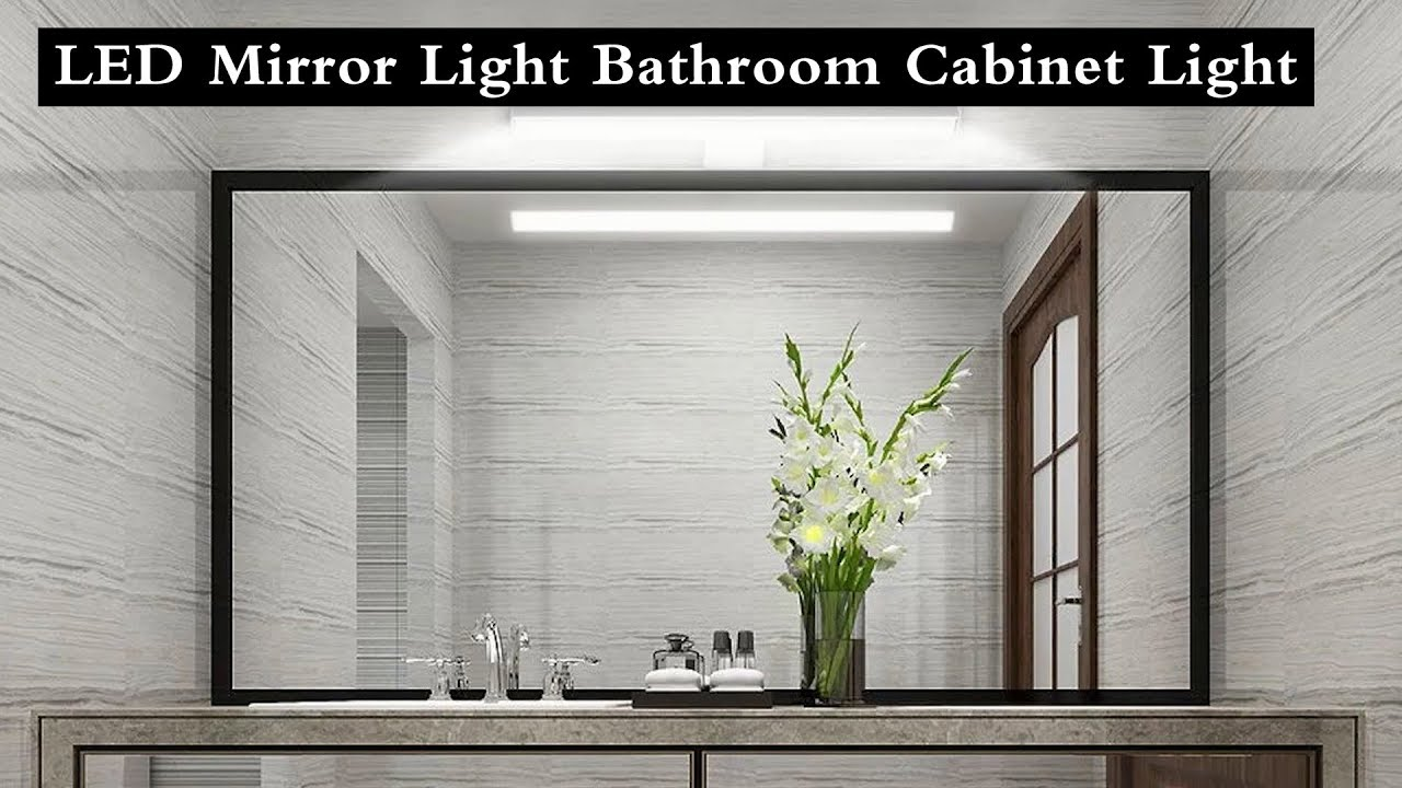 Led Mirror Light Bathroom Cabinet Light Make Up Mirror Light Youtube